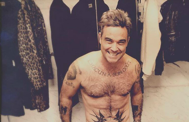 Robbie Williams bilduje