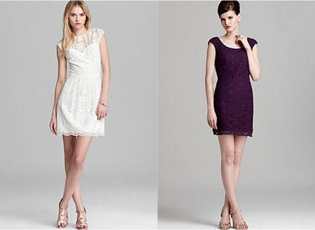 Ženstvena čipkasta haljina