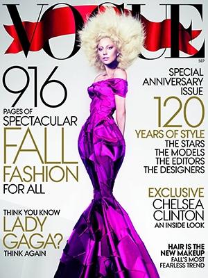 Lady Gaga  na naslovnici Voga