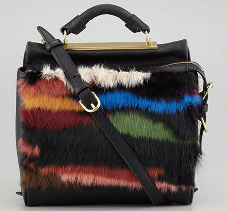 Multi kolor krznena torba