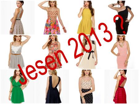 haljine za jesen 2013