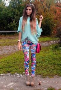 Pantalone sa cvetnim dezenima