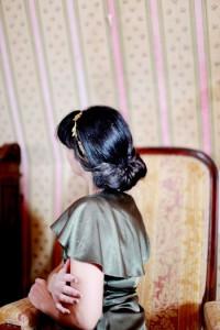 Uvrnuti tvist sa trakom za kosu