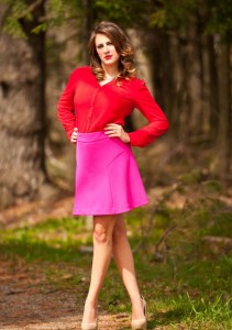 Roze i crvena