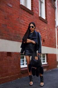 Kožna suknja i kožna jakna