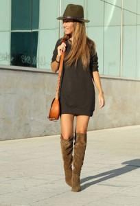 Braon čizme i haljine