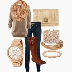 Braon čizme i modni detalji