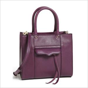 ljubicasta Mini kožna torba