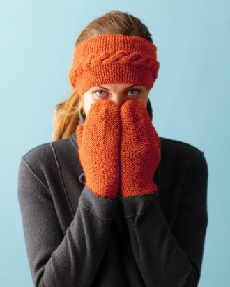 Klasične pletene rukavice