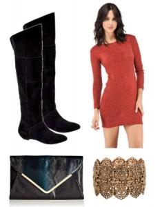Modni detalji – nakit i crvena haljina