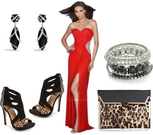 Crvena haljina i lice