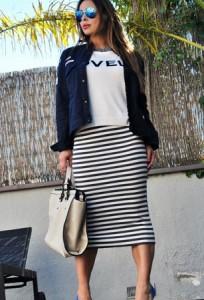 Prugaste suknje za proleće 2014