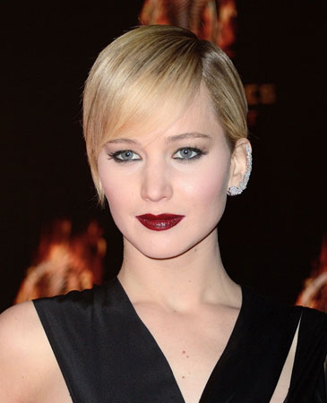 plava kosa Jennifer Lawrence