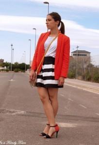 Bela majica i suknje
