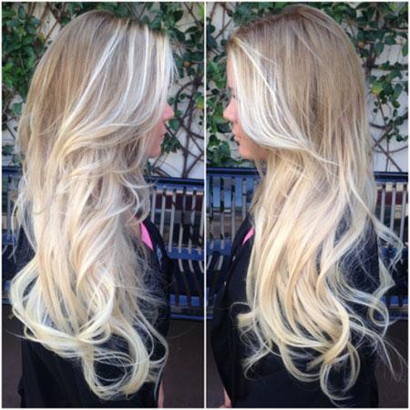 Ombre plava boja kose