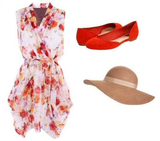 Crvene cipele i letnja haljina