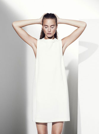 Jednostavna bela haljina