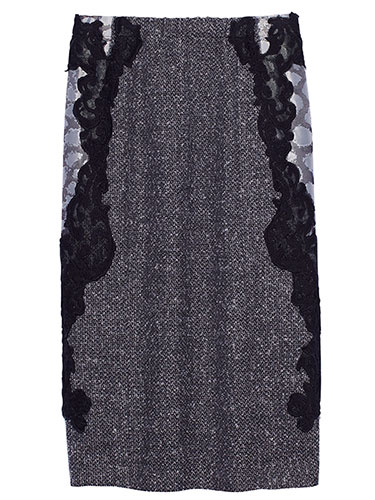 Olovka suknja sa cipkom