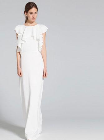 Duga haljina sa ranflama