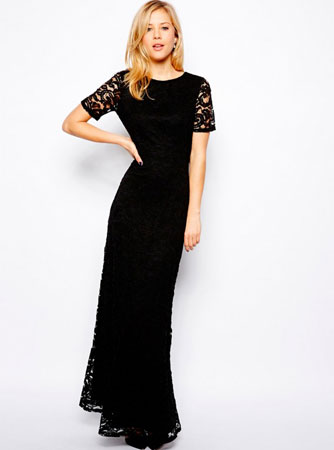 Asos crna maksi haljina