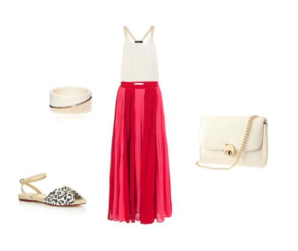 Crvena maksi suknja