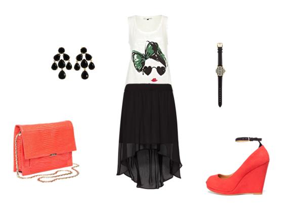 Crna maksi suknja