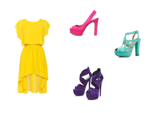 Blokada boja - zuta haljina