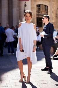 Bela haljina košulja