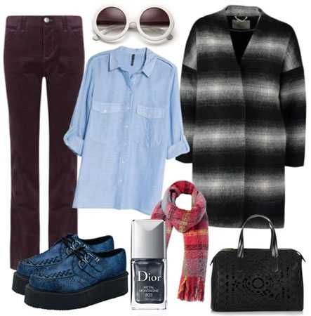 Zimski outfit sa kaputom