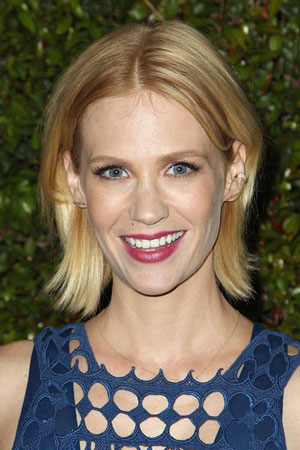 January Jones – Elegantna bob frizura po sredini