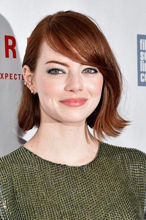 Emma Stone – Kratka bob frizura sa šiškama