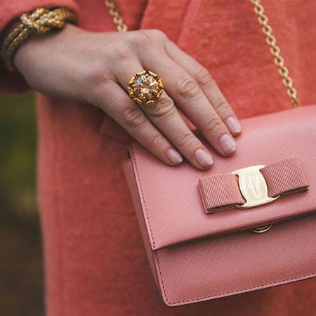 Roze mini torba