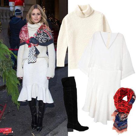 modna kombinacija Olivia Palermo