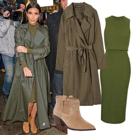 modna kombinacija Kim Kardashian