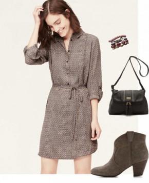 Košulja haljina ( shirt dress) sa dugim rukavima