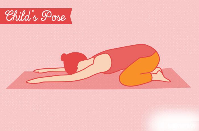 yoga vezba  Poza dete