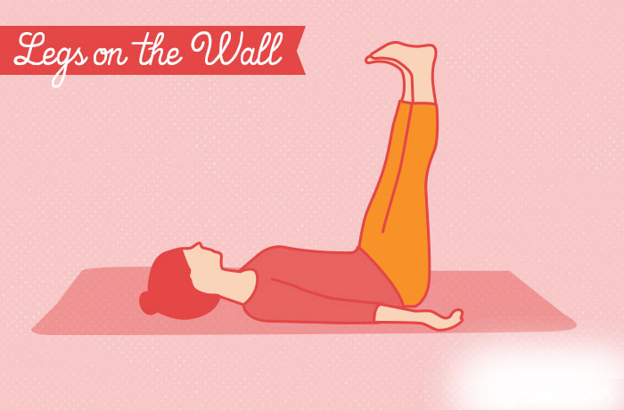 Poza noge na zidu yoga vezbe