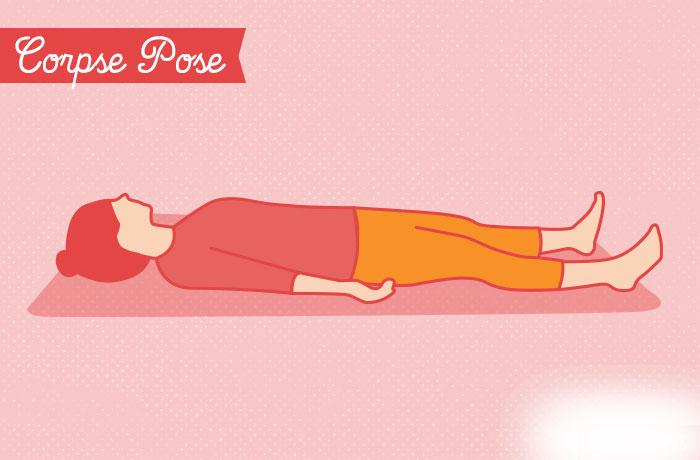 yoga vezbe  Položaj mrtvaca