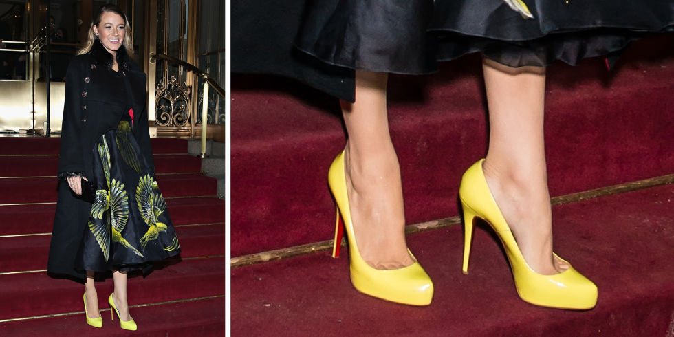 Christian Louboutin zute cipele