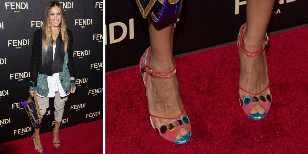 Fendi roze sandale