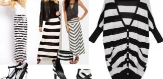 Kako kombinovati odeću sa crno belim prugama