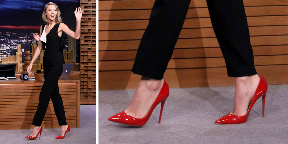 crvene visoke potpetice