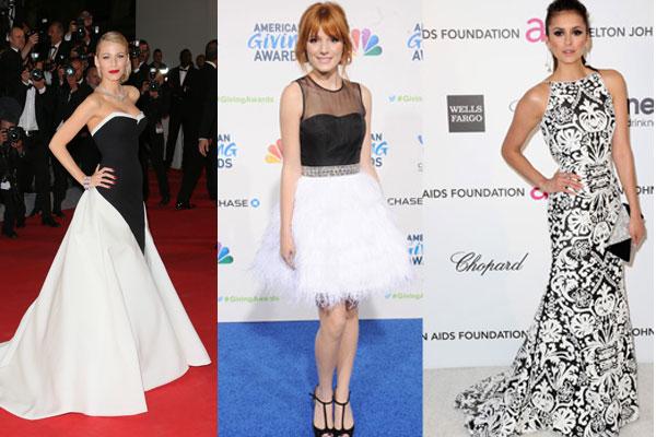 crno bele maturske haljine