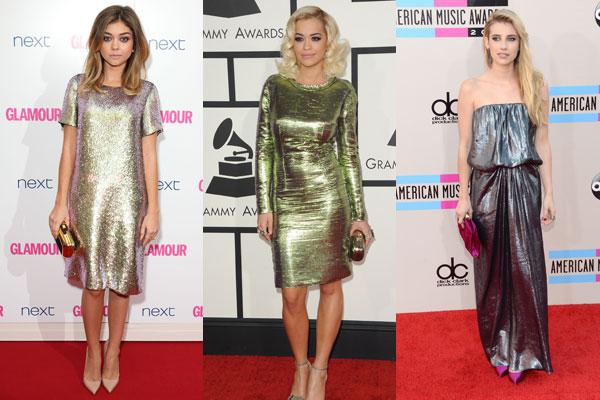 maturske haljine u metalik boji
