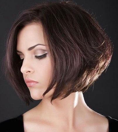 zaobljena bob frizura