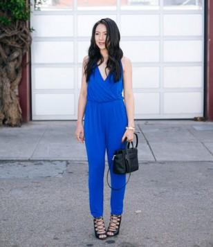 plavi kombinezon za niske dame