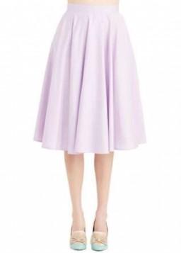 roze A line midi suknja