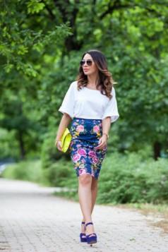 suknja sa cvetnim printom