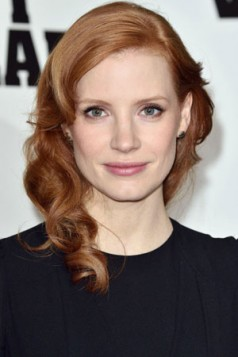 strawberry red Jessica Chastain