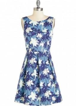 haljina sa tropskim printom
